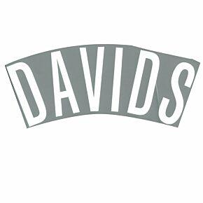 Davids (Name Only) - 02-03 Juventus 3rd Official Name Transfer