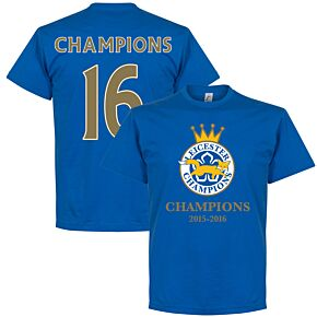 Leicester Champions '16 Tee - Royal