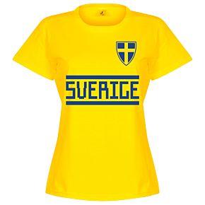 Sweden Team Womens Tee - Yellow