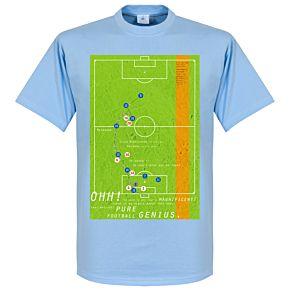 Pennarello Diego Maradona 1986 Classic Goal Tee - Sky