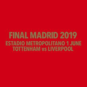 Final Madrid 2019 Transfer