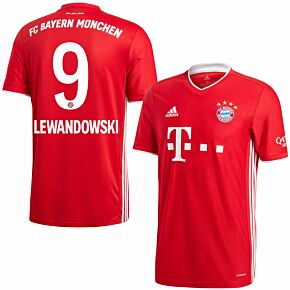 20-21 Bayern Munich Home Shirt + Lewandowski 9