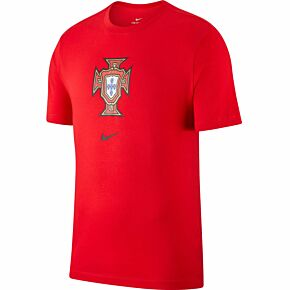 20-21 Portugal Crest T-shirt - Red