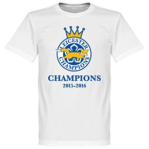 Leicester Foxes Champions 2016 Tee - White