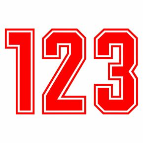 Keyline Style Red Flock Numbers