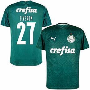 20-21 Palmeiras Home Shirt + C. Veron 27 (Fan Style Printing)