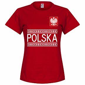 Poland Team Womens Tee - Red