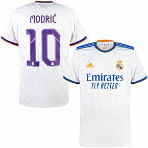 21-22 Real Madrid Home Shirt + Modrić 10 (Official Printing)