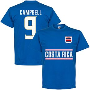 Costa Rica Campbell 9 Team Tee - Royal
