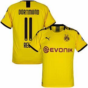 Puma Borussia Dortmund Home Reus 11 Jersey 2019-2020 (Official Printing)