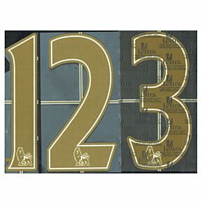 07-13 Premier League Players Lextra Numbers - Gold - 258mm