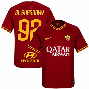 Nike AS Roma Home El Shaarawy 92 Jersey 2019-2020 (Fan Style Printing)