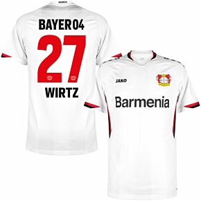 21-22 Bayer Leverkusen Away Shirt + Wirtz 27 (Official Printing)