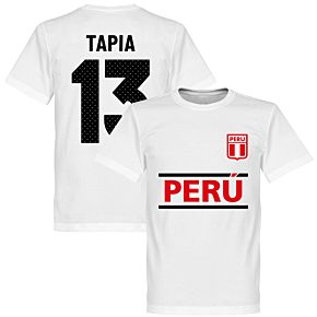 Peru Tapia 13 Team T-Shirt - White