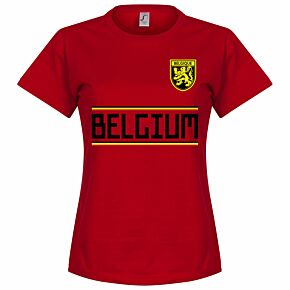 Belgium Team Womens Tee - Red
