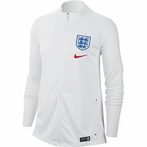 Nike England Womens Squad Anthem Jacket - White 2019-2020