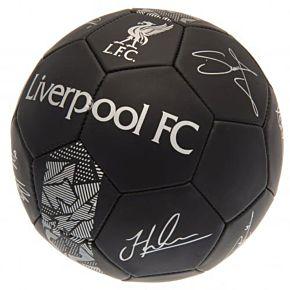 Liverpool Signature Ball -Black/Silver (Size 5)