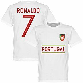Portugal Ronaldo 7 KIDS Team Tee - White
