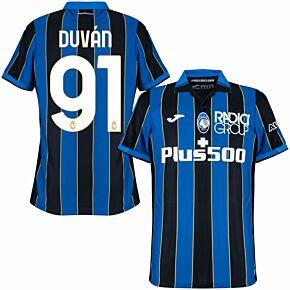 21-22 Atalanta Home Shirt + Duván 91 (Official Printing)