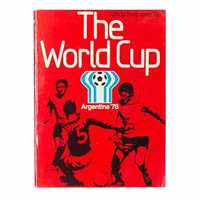 1978 World Cup Finals in Argentina Official Souvenir Program - UK Edition