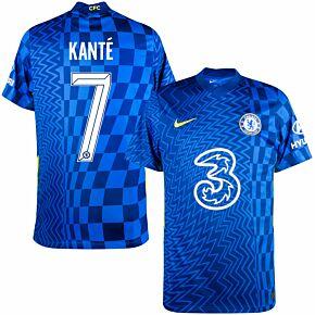 21-22 Chelsea Home Shirt + Kanté 7 (Official Cup Printing)