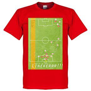 Pennarello Gary Lineaker 1986 Classic Goal Tee - Red