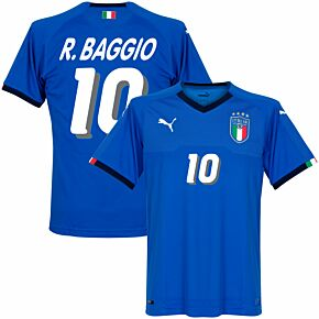 Italy Home R. Baggio Jersey 2018 / 2019 (1994 Style Printing)
