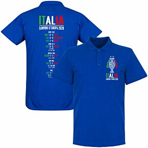 Italia Champions of Europe 2020 Road to Victory Polo Shirt - Royal