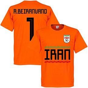 Iran A. Beiranvand 1 Team Tee - Orange