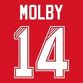 Molby 14 (Retro Flock Printing) 95-96 Liverpool Home