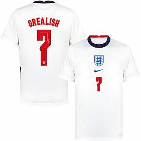 20-21 England Home Shirt + Grealish 7 (Official Printing)