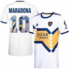 20-21 Boca Juniors Away Shirt+ Maradona 10 (Gallery Style)