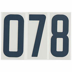 02-04 Nike Short Numbers - Blue (110mm)