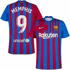21-22 Barcelona Dri-Fit ADV Match Home Shirt + Memphis 9 (Official Printing)