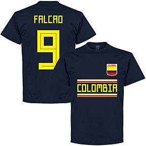 Colombia Falcao 9 Team Tee - Navy