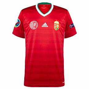 20-21 Hungary Home Shirt + Euro 2020 & Respect Patches