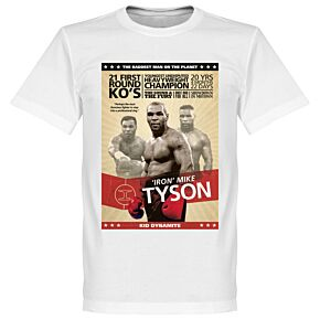 Mike Tyson Boxing Poster Tee - White