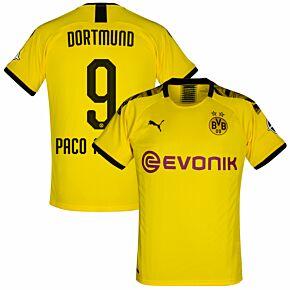Puma Borussia Dortmund Home Paco Alcacer 9 Jersey 2019-2020