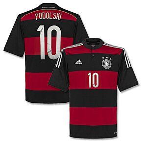 Germany Away Podolski Jersey 2014 / 2015