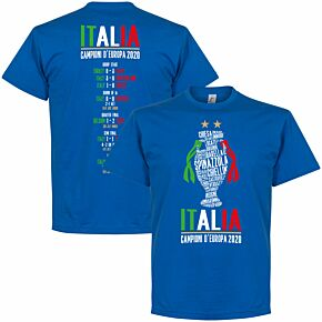 Italia Champions of Europe 2020 Road to Victory T-shirt - Royal