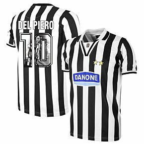 Copa Juventus Home Retro Shirt  1994-1995 + Del Piero 10 (Gallery Style Printing)