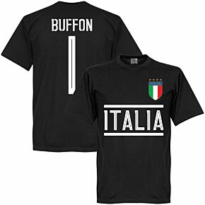 Italy Buffon 1 KIDS Team T-Shirt - Black