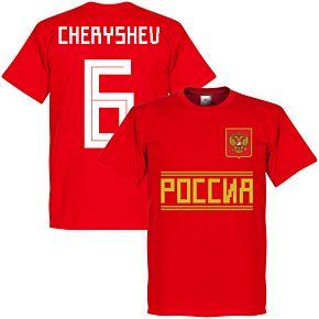 Russia Cheryshev 6 Team Tee - Red