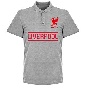 Liverpool Team Polo - Grey Marl