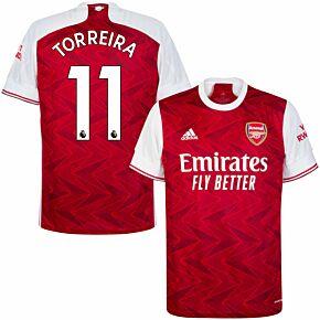20-21 Arsenal Home Shirt + Torreira 11