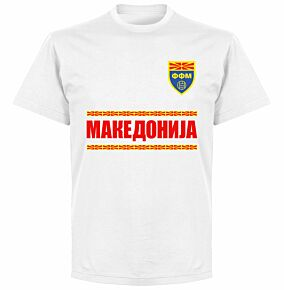 Macedonia Team T-shirt - White