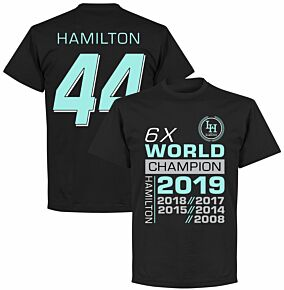 Hamilton 44 6x World Champion T-Shirt - Black