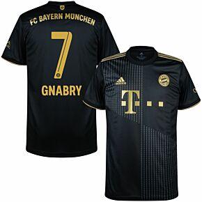 21-22 FC Bayern Munich Away Shirt + Gnabry 7 (Official Printing)