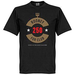 Rooney 250 Club Goals Tee - Black
