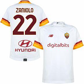 21-22 AS Roma Away Shirt + Zaniolo 22 (Fan Style Printing)